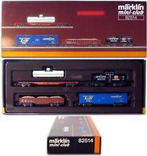 MARKLIN Z SCALE  82514 US Freight 4 Car Set Use w/Engine 88811 - C9 Original Box