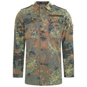 German Flecktarn Field Shirt Genuine Army Surplus Military Lightweight Grade 1