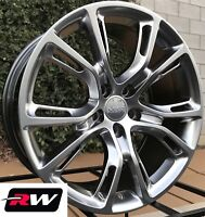 """Jeep Grand Cherokee Wheels 20"""" inch Hyper Silver 20x9"""" / 20x10"""" Staggered Rims"""