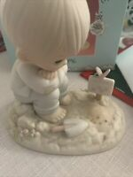 Precious moments figurine In His Time 1987 Members Only PM872