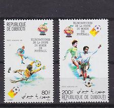 djibuti 1980 world cup,set Sc C141/2 MNH          f1848