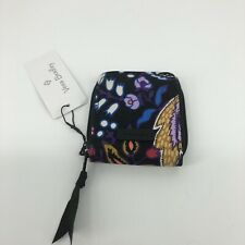 VERA BRADLEY TRAVEL TAKES CONTACT LENS CASE Foxwood NWT ZIPPER