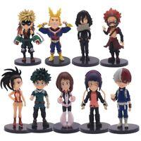 My Hero Academia 9 Pcs/Set mini action figure toy models PVC figurines Dolls