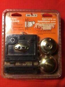 Bit Key Rim Lock with Skelton key