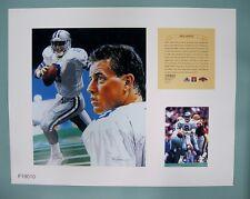 Troy Aikman Dallas Cowboys 1997 NFL Football 11x14 Lithograph Print (scare)
