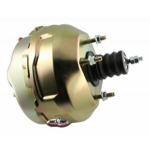 TUFF STUFF 2229NB Power Brake Booster, 9 in. Diameter, Gold Zinc Plated, Chevy
