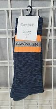 CALVIN KLEIN SOCKS 1 PAIR COTTON BLEND ONE SIZE 7-12 NAVY BLUE
