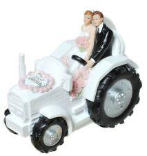 Spardose Brautpaar im Traktor Sparschwein Braut heiraten Geldgeschenke Hochzeit