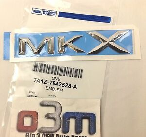 2007-2010 Lincoln MKX Rear Nameplate MKX Emblem new OEM 7A1Z-7842528-A