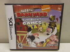 NINTENDO DS BACK AT THE BARNYARD SLOP BUCKET GAMES COMPLETE