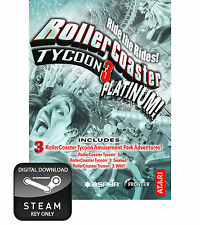 Rollercoaster Tycoon 3 Platinum PC e MAC chiave a vapore