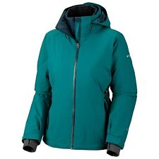 Columbia Melting Point Parka Jacket Womens Ski Waterproof 3 in 1Teal L $400