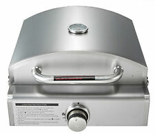 Super Grills 3 in 1 portable stainless steel table Top Gas BBQ grill Camping New
