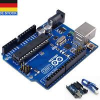 UNO R3 Entwicklungsplatine MEGA328P ATMEGA16U2 Board USB Kabel Für Arduino DE