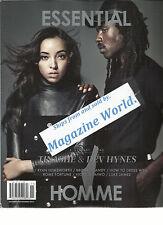 ESSENTIAL HOMME, MAGAZINE, OCT / NOV, 2015  ISSUE NO. 31 (TINASHE & DEV HYNES )