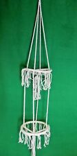 """HAND MADE 50""""  HEIGHT NATURAL MACRAME PLANT POT HOLDER  LOW PRICE,RESALE PROFIT"""
