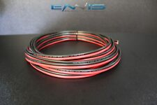 8 GAUGE 10 FT RED BLACK ZIP WIRE AWG CABLE POWER GROUND STRANDED COPPER CLAD EE