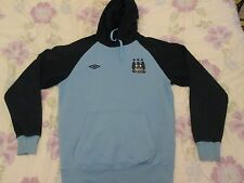 Manchester City hoodie Sweat-shirt taille M bleu couleur Umbro