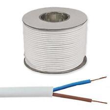 2182Y 2 Core White Flexible Cable 0.50mm 0.75mm 50m 100m Drum