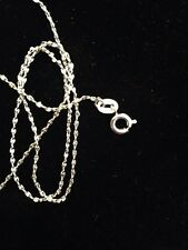 1mm 925 Sterling Silver Necklace Chain Italy For Pendant Snake Chain UK L391