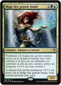 MTG Magic : Playset (4x) Mage des grands fonds Commander 2016 VF