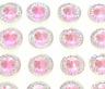 40 SELF ADHESIVE ROUND SHAPED PINK RESIN DIAMANTE RHINESTONES GEMS 12 MM
