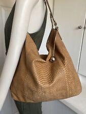 La Furla Textured Rich Brown Snake Leather Carryall Tote Shoulder Hand Bag