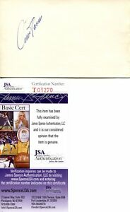 Rare Cesar Tovar Baseball Signed Autograph 3x5 Minnesota Twins JSA COA