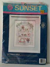 Vintage Sunset Counted Cross Stitch Kit Victorian Shelf