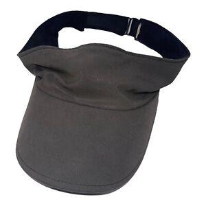 Lululemon Charcoal Running Athletic Visor Hat, One Size