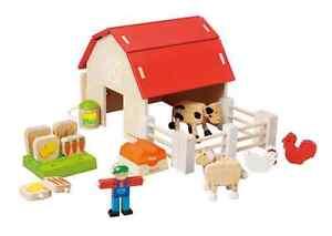 EverEarth EE32685 Wooden Organic Farm Play Set NEW