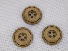 16 schicke Knöpfe bronze/gold 20mm