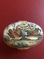 Halcyon Days The Audubon Enamels Key West Quail Anniversary Trinket Box UK64 Lmt
