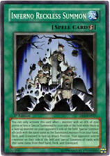 *** INFERNO RECKLESS SUMMON  *** MODERATELY PLAYED SUPER DP2-EN025 YUGIOH!