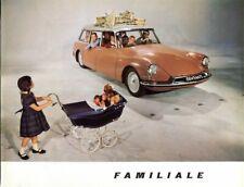 Citroen ID19 Familiale French market sales Brochure 1961