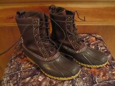 Kids 6M Womens LL BEAN Boots Snow Rain Duck Brown Rubber/Leather Thinsulate 8M
