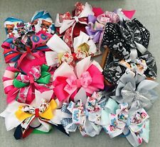 Large Set Of 25 Giant Big HAIR BOWS dolls Princess Character Clips Bands NEW