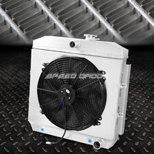 FOR CHEVY BEL-AIR/NOMAD/150/250 ALUMINUM 3 ROWS RADIATOR W/COOLING FAN SHROUD