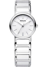 Bering Womens 30226-754 Ceramic White Dial Silver Stainless Steel Band SS Watch
