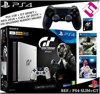 VIDEOCONSOLA PS4 PLAYSTATION 4 1TB SEGUNDO MANDO GT SPORT FIFA 2018 CALL OF DUTY