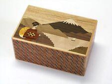 Nuevo 21 pasos Truco japonés Caja Puzzle Rompecabezas de Madera Hakone yosegi Fuji Maiko