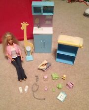Barbie Mattel Play All Day Baby Doctor & Office EUC scale infant doll toys 2006