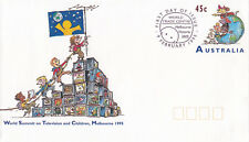 (13825) Australia Postal Stationery Fdc Tv & Children World Summit 1995