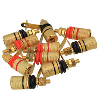 10pcs 4mm Binding Post Audio Amplifier Terminal Banana Jack Speaker Gold Plated