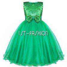 Mädchen Blumen Mode Kleid Kinder Festkleid Hochzeit Party Kommunionskleid 56-164