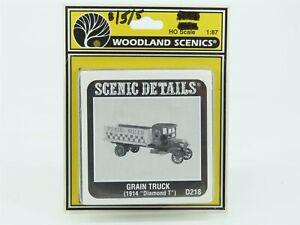 HO 1/87 Scale Woodland Scenics D218 Grain Truck (1914 Diamond T) Vehicle Kit