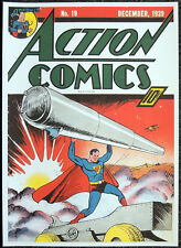 SUPERMAN REPRO POSTER ACTION COMICS #19 JOE SHUSTER 1939 COVER . DC COMICS D8