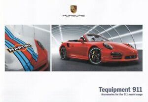 Porsche Tequipment 911 UK Brochure 2016 Carrera S/4S/GTS/4 GTS/Turbo/GT3