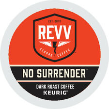 REVV NO SURRENDER Coffee, Keurig K-Cup Pod, Dark Roast, 96 Count