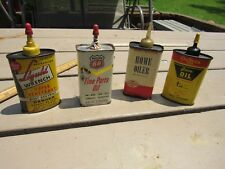VINTAGE SOHIO, PHILLIPS 66, LIQUID WRENCH, OUTERS GUN, HANDY OILER OIL TIN CAN
